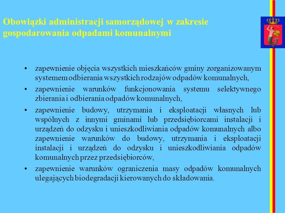 Obowiązki administracji samorządowej w zakresie gospodarowania odpadami komunalnymi