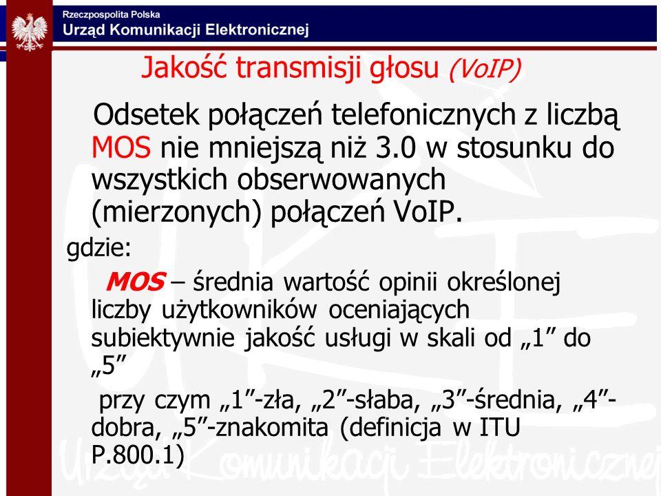 Jakość transmisji głosu (VoIP)