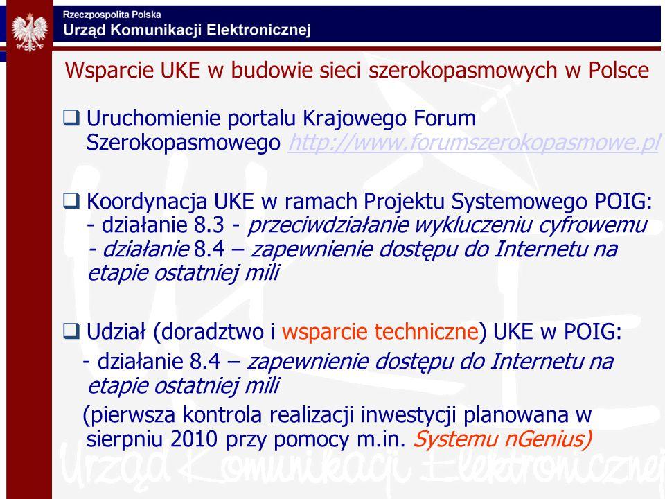 Wsparcie UKE w budowie sieci szerokopasmowych w Polsce