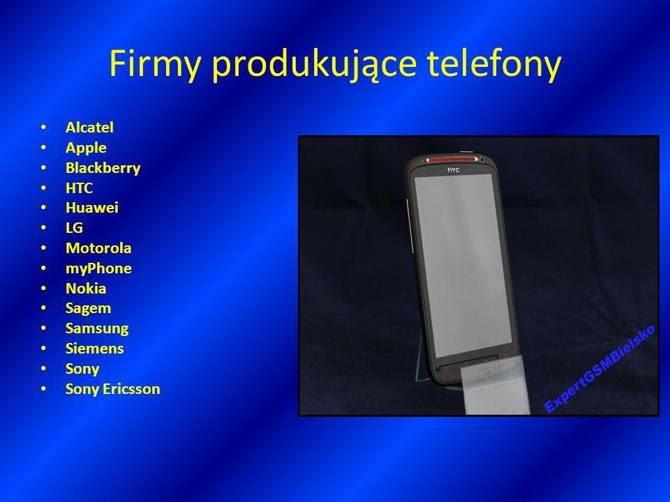 Firmy produkujące telefony