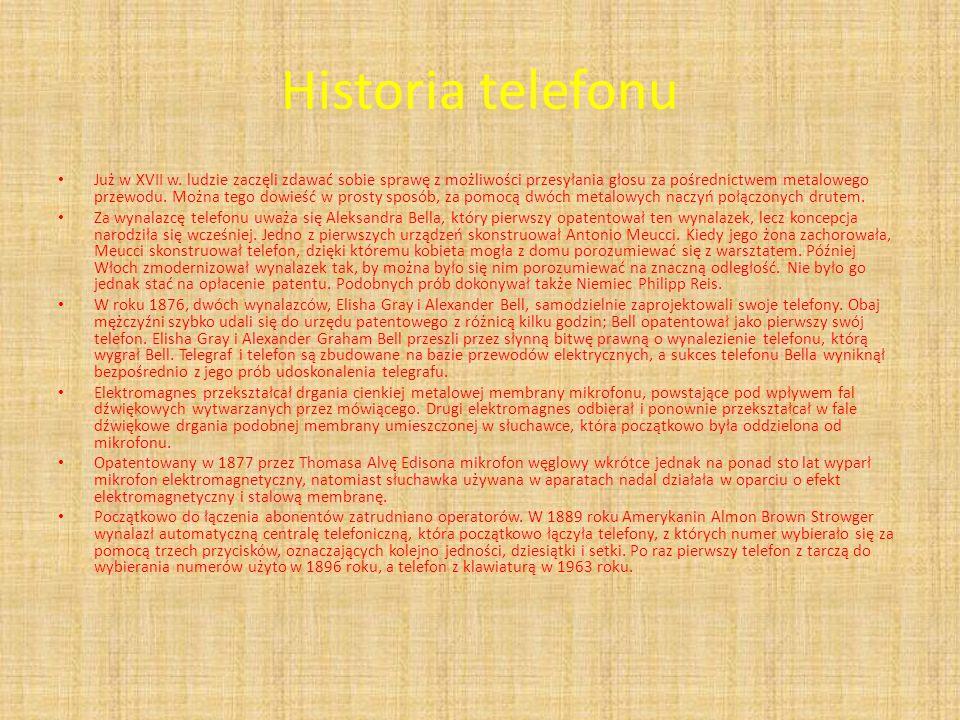 Historia telefonu