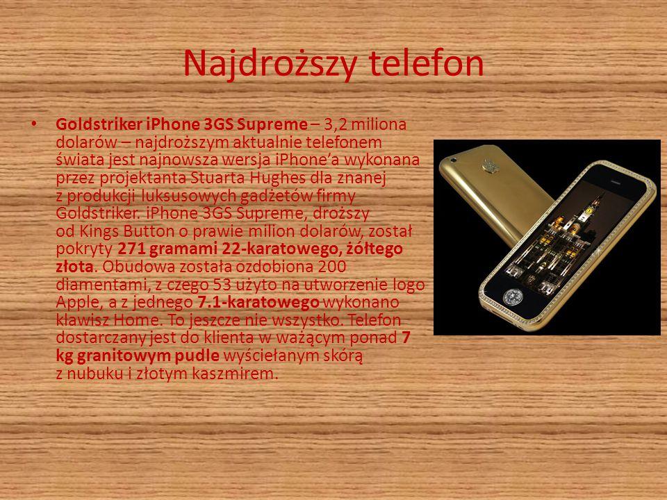 Najdroższy telefon