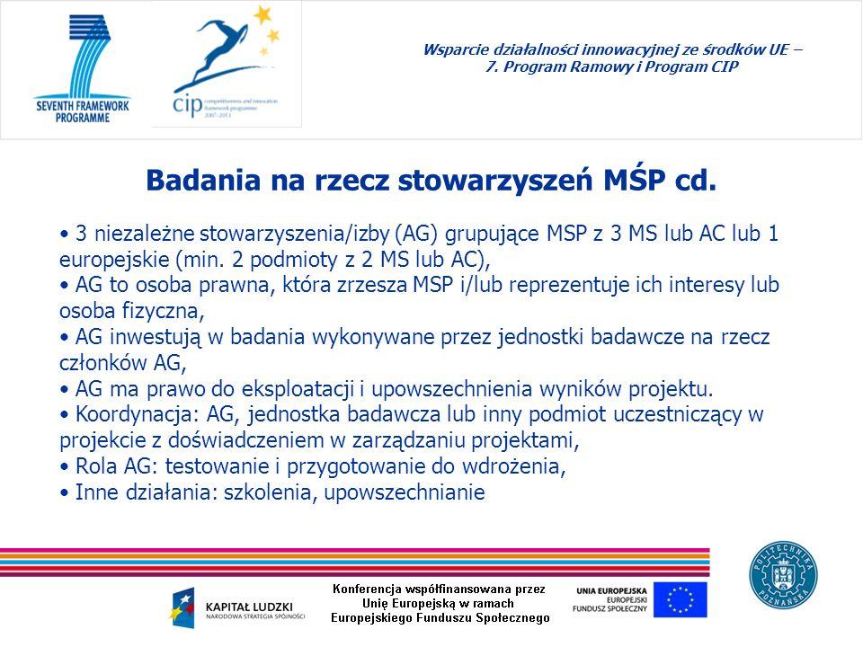Badania na rzecz stowarzyszeń MŚP cd.