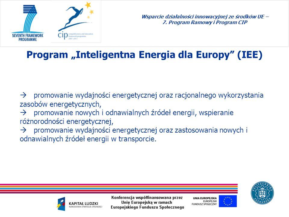 """Program """"Inteligentna Energia dla Europy (IEE)"""