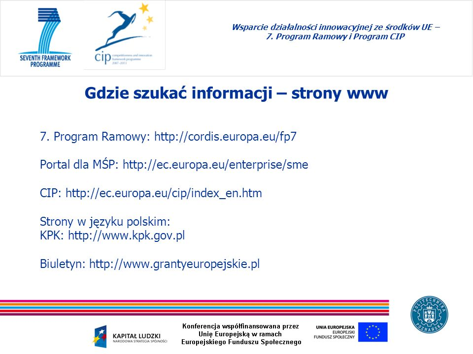Gdzie szukać informacji – strony www