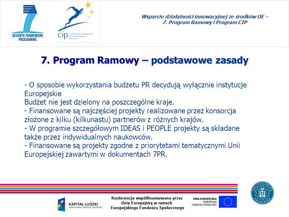 7. Program Ramowy – podstawowe zasady
