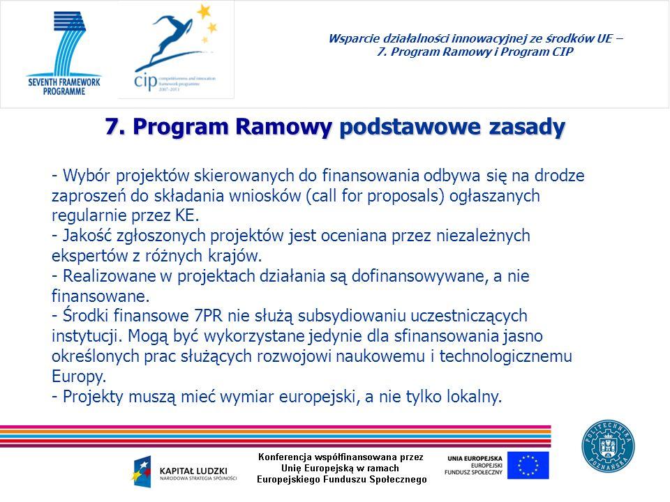 7. Program Ramowy podstawowe zasady