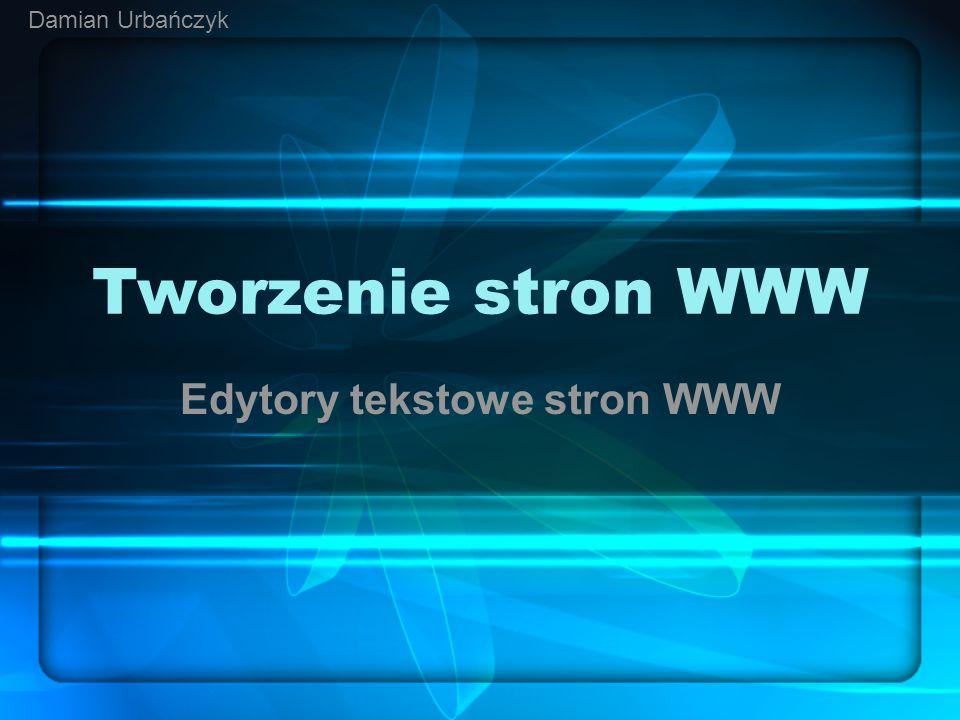 Edytory tekstowe stron WWW