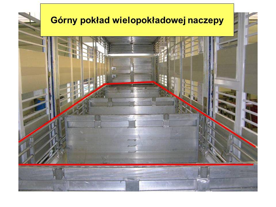 Górny pokład wielopokładowej naczepy