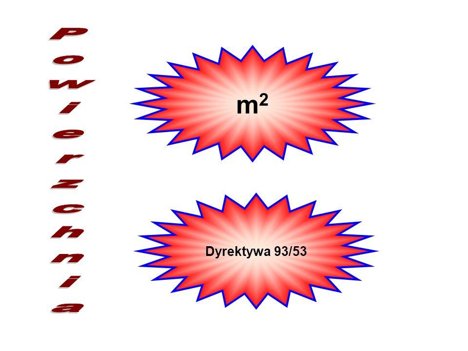 m2 Powierzchnia Dyrektywa 93/53