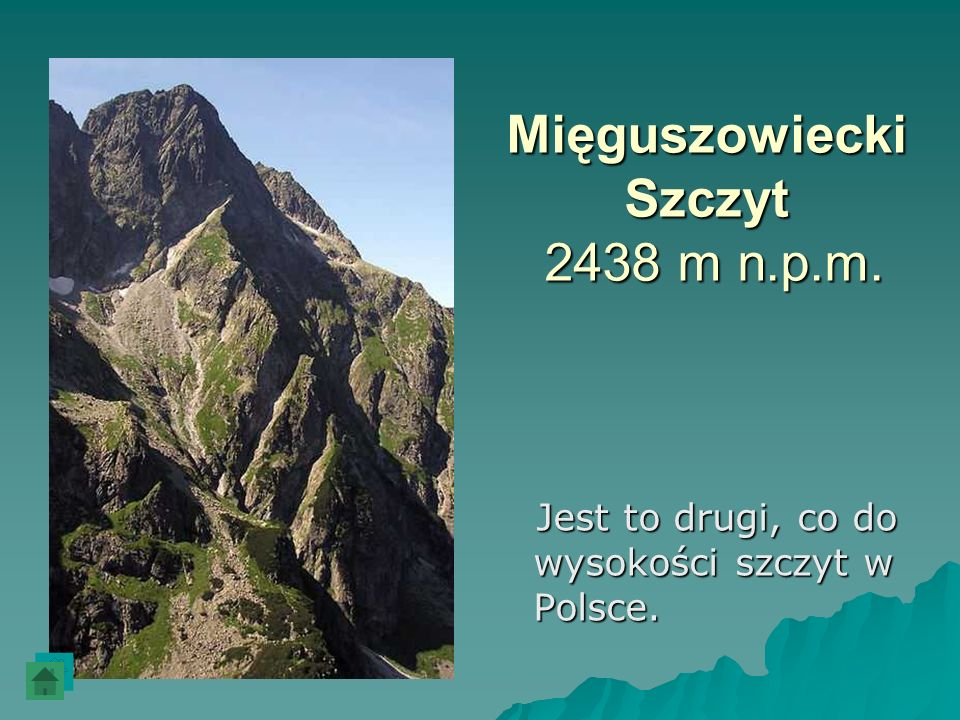 Mięguszowiecki Szczyt 2438 m n.p.m.