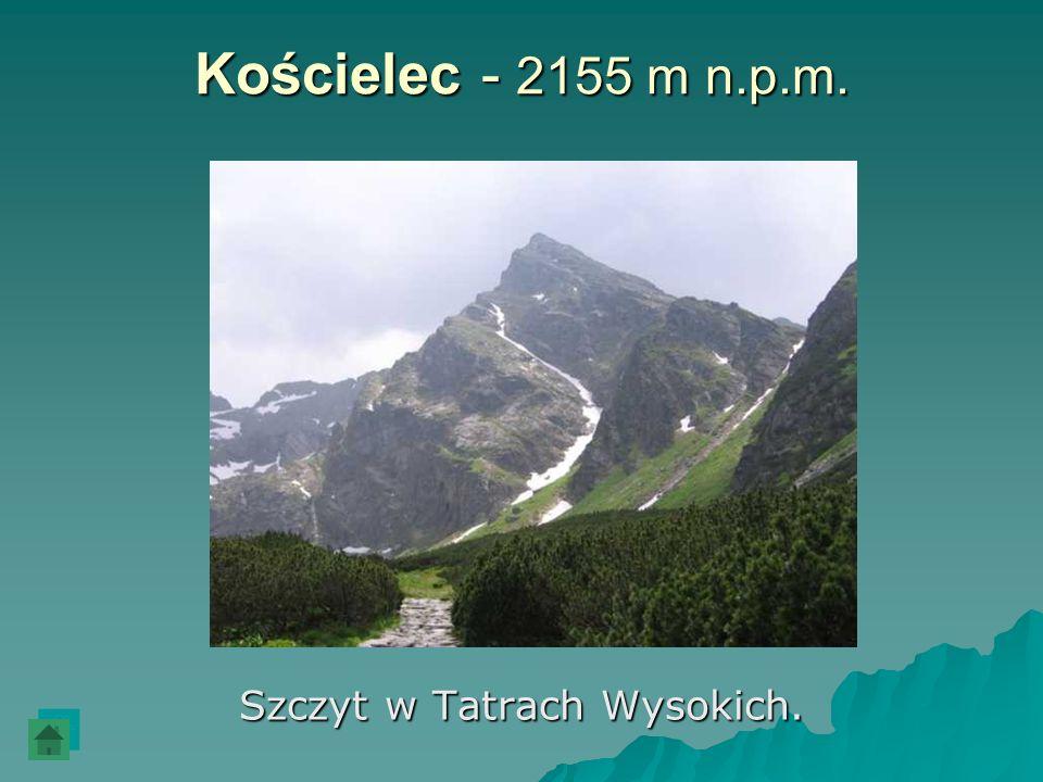 Szczyt w Tatrach Wysokich.