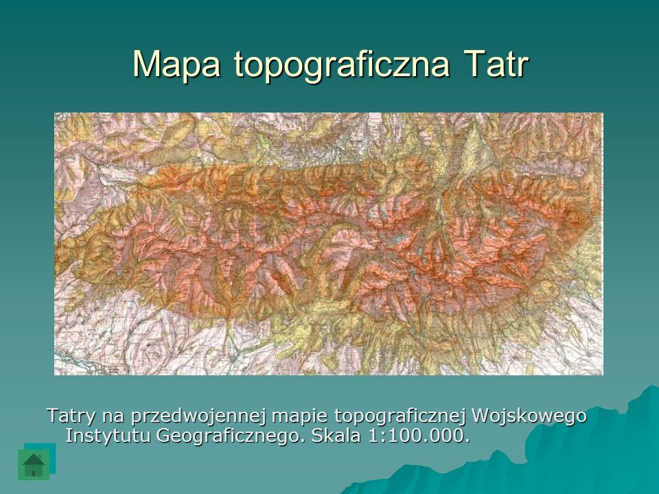 Mapa topograficzna Tatr