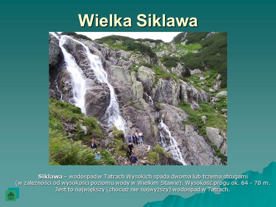Wielka Siklawa Siklawa – wodospad w Tatrach Wysokich spada dwoma lub trzema strugami.