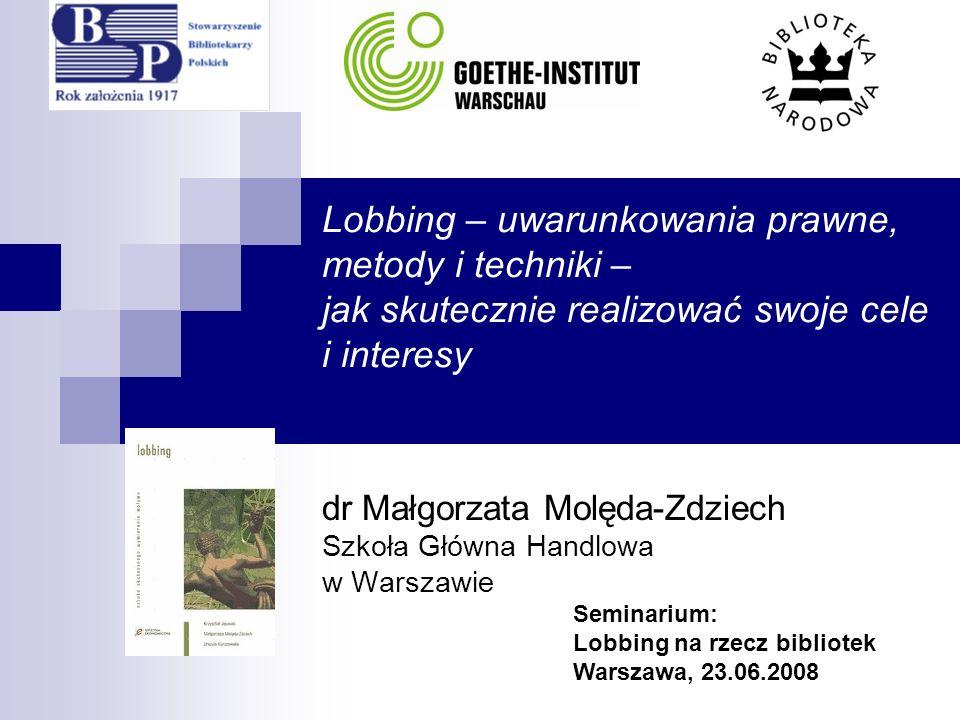 dr Małgorzata Molęda-Zdziech Szkoła Główna Handlowa w Warszawie