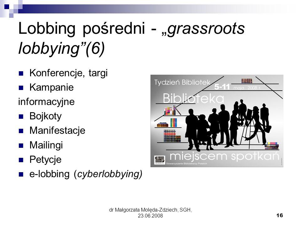 """Lobbing pośredni - """"grassroots lobbying (6)"""