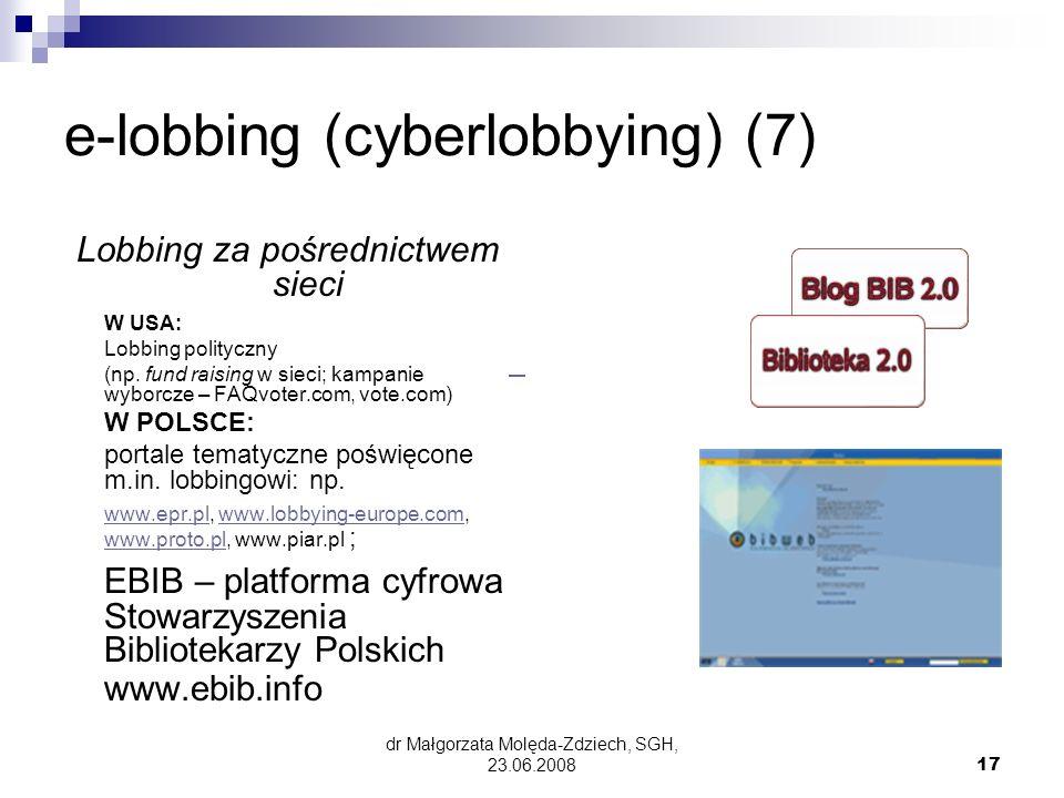 e-lobbing (cyberlobbying) (7)