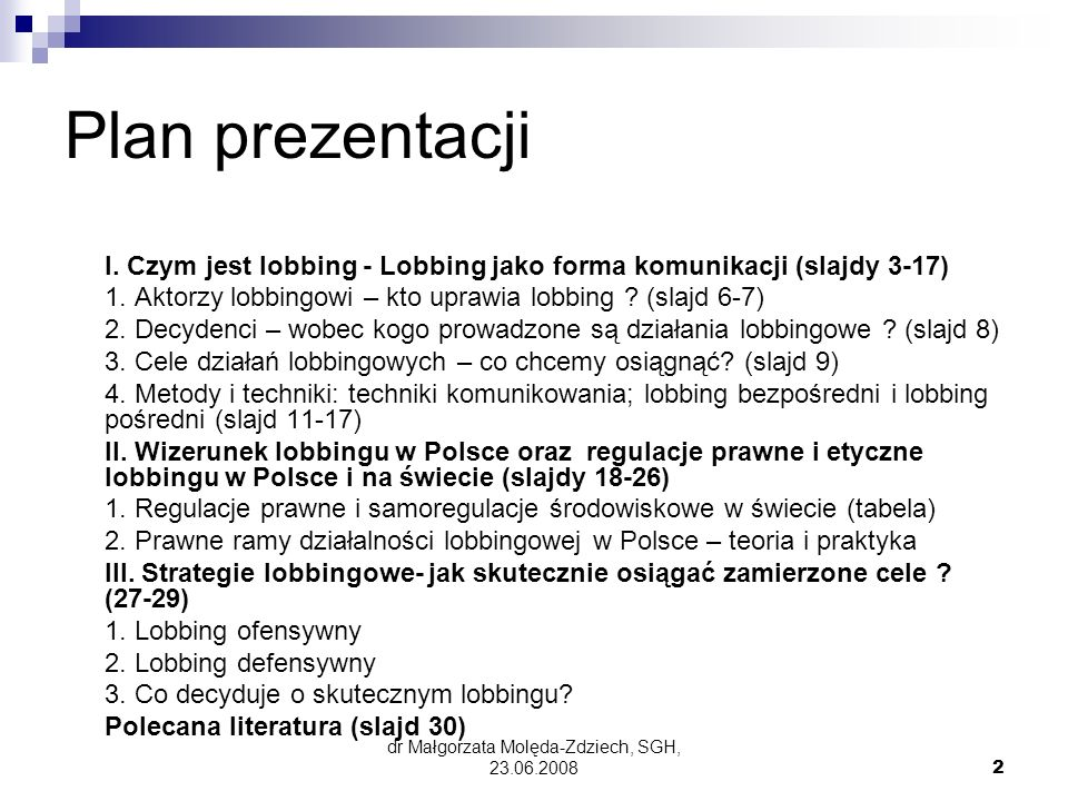 dr Małgorzata Molęda-Zdziech, SGH, 23.06.2008