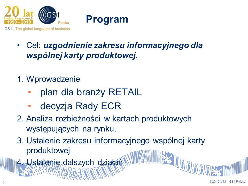 Program plan dla branży RETAIL decyzja Rady ECR