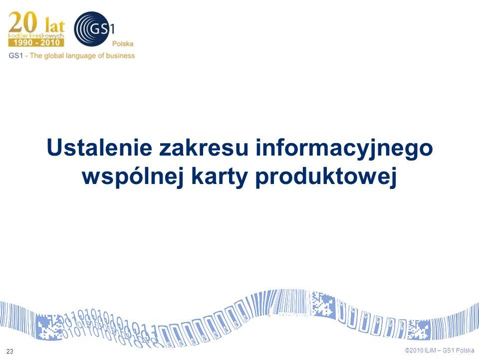 Ustalenie zakresu informacyjnego wspólnej karty produktowej