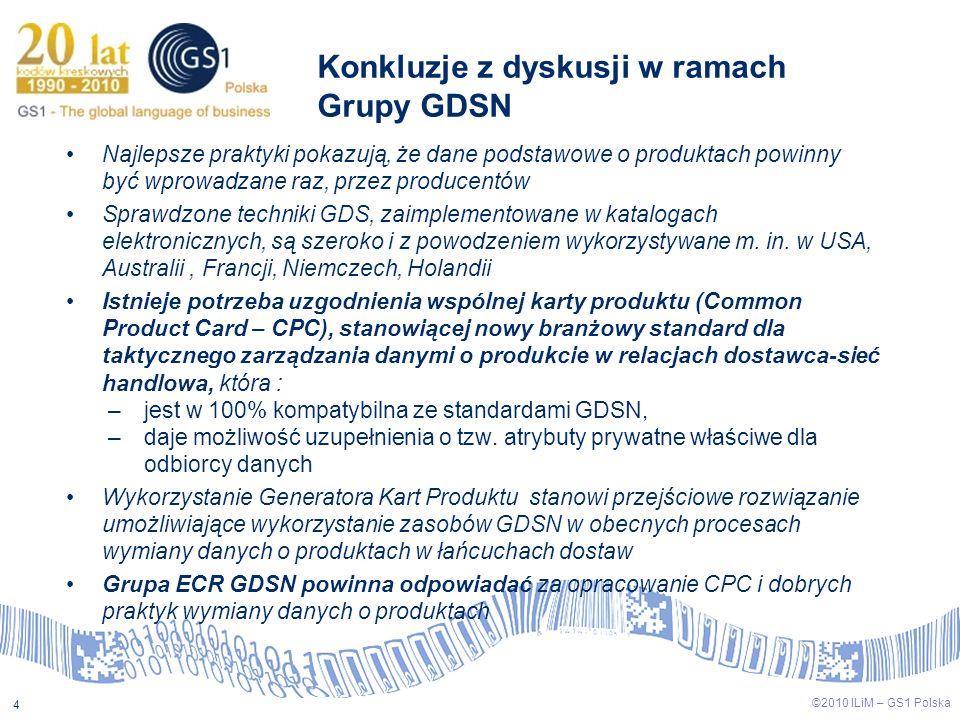 Konkluzje z dyskusji w ramach Grupy GDSN