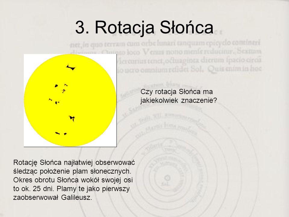 3. Rotacja Słońca Czy rotacja Słońca ma jakiekolwiek znaczenie