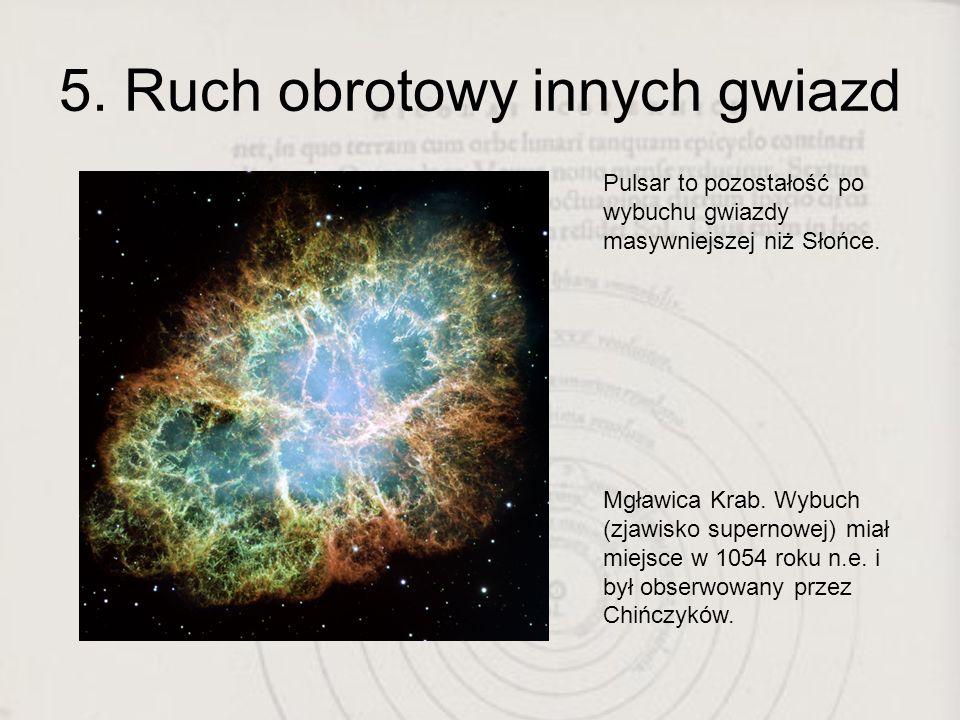 5. Ruch obrotowy innych gwiazd