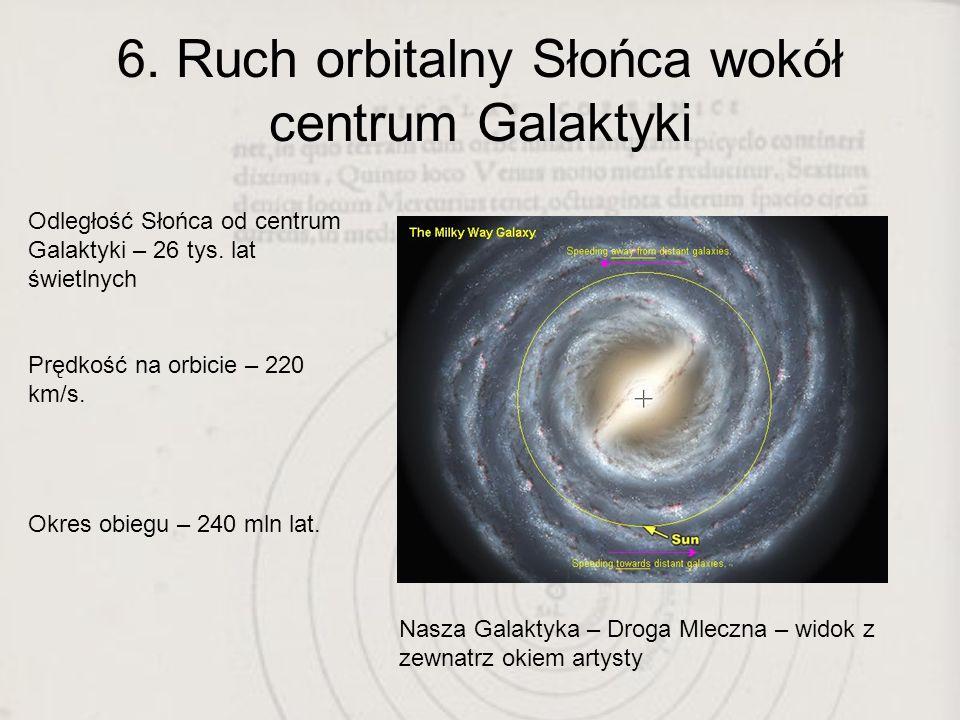 6. Ruch orbitalny Słońca wokół centrum Galaktyki