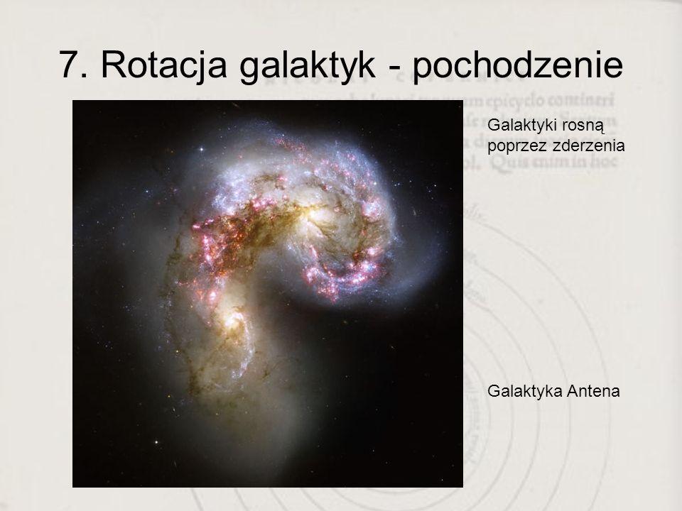 7. Rotacja galaktyk - pochodzenie