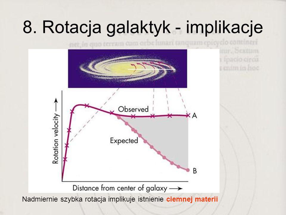 8. Rotacja galaktyk - implikacje