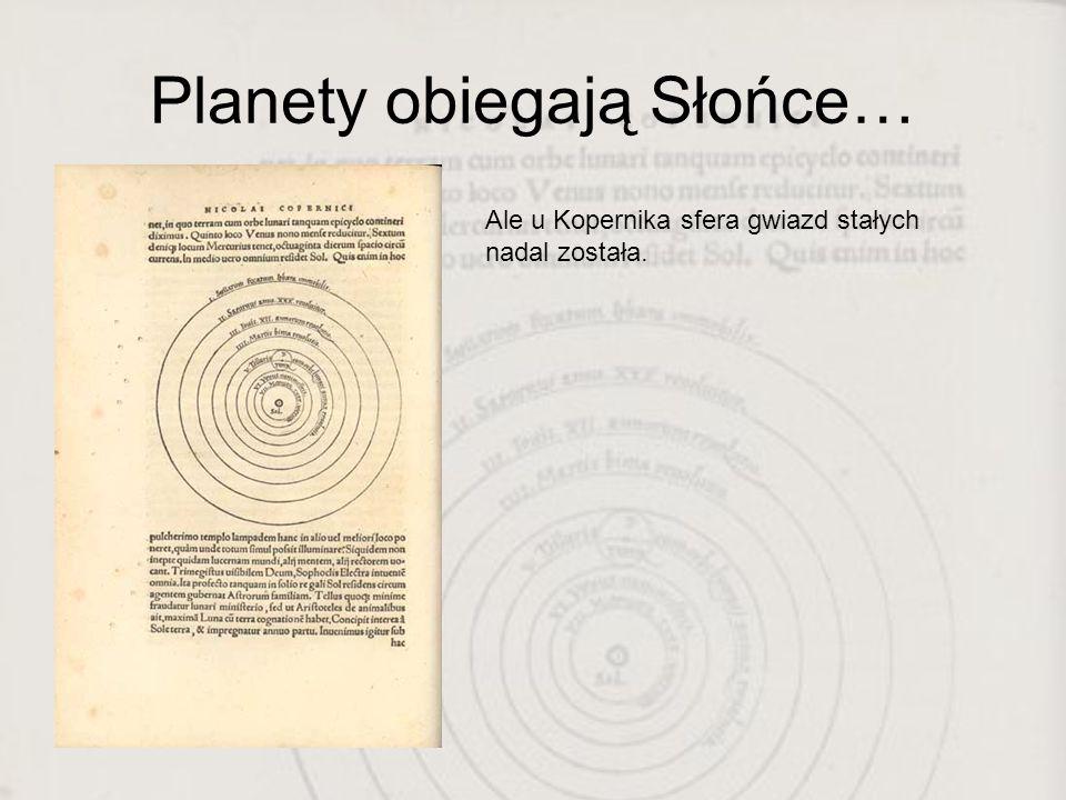 Planety obiegają Słońce…