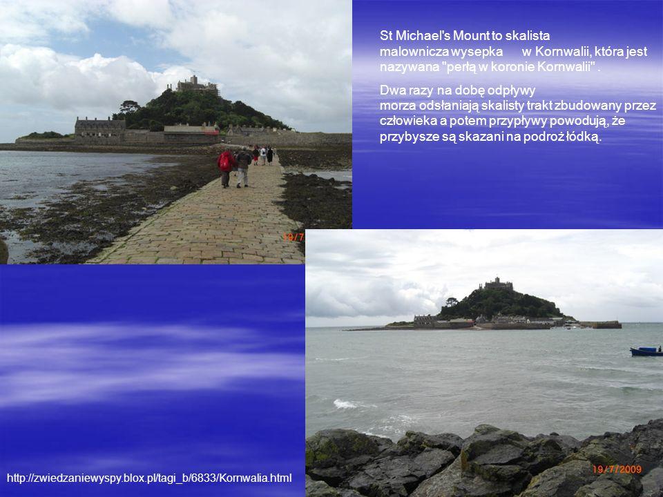 St Michael s Mount to skalista malownicza wysepka w Kornwalii, która jest nazywana perłą w koronie Kornwalii .