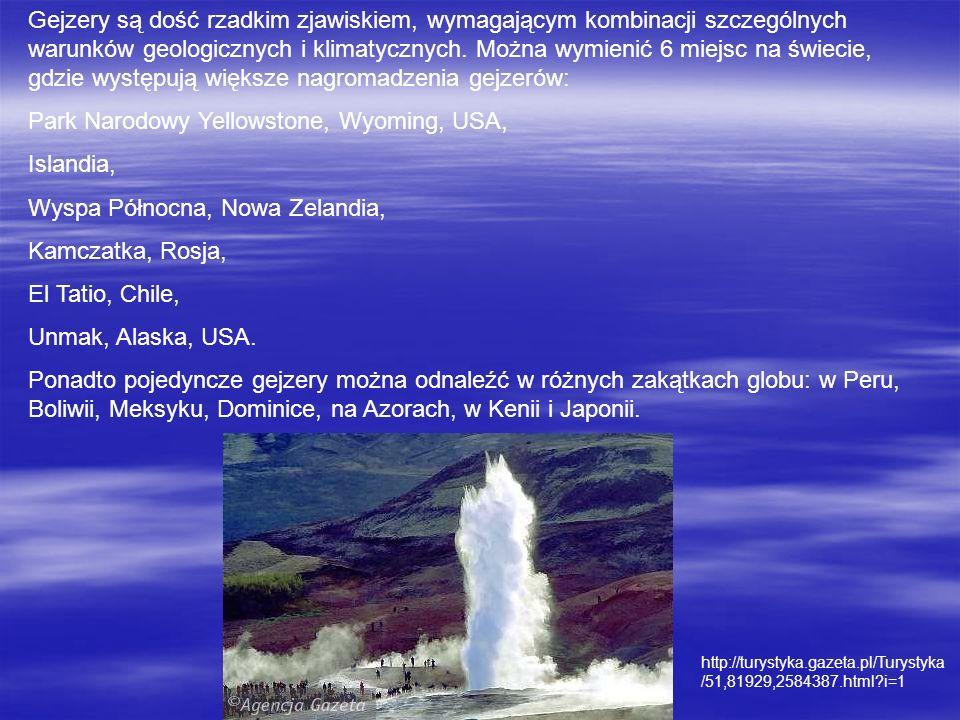Park Narodowy Yellowstone, Wyoming, USA, Islandia,