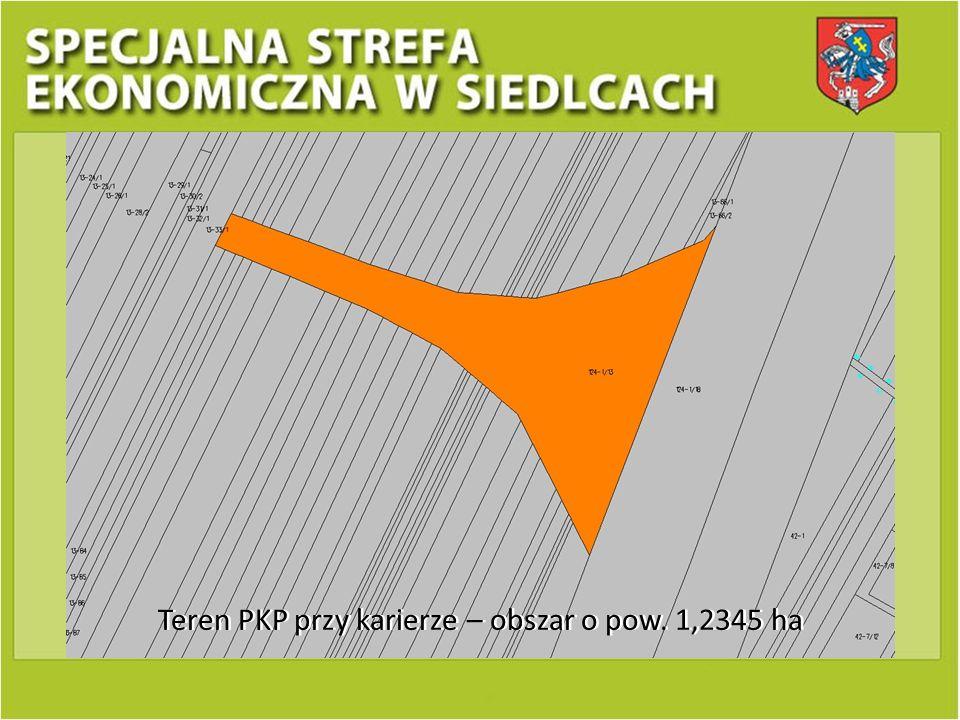 Teren PKP przy karierze – obszar o pow. 1,2345 ha