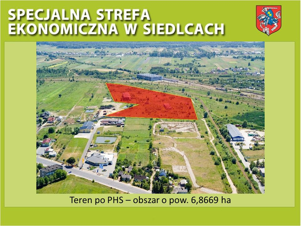 Teren po PHS – obszar o pow. 6,8669 ha