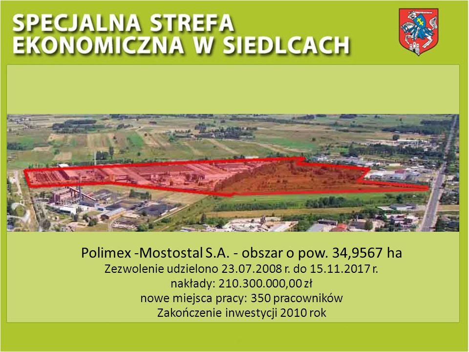 Polimex -Mostostal S.A. - obszar o pow. 34,9567 ha