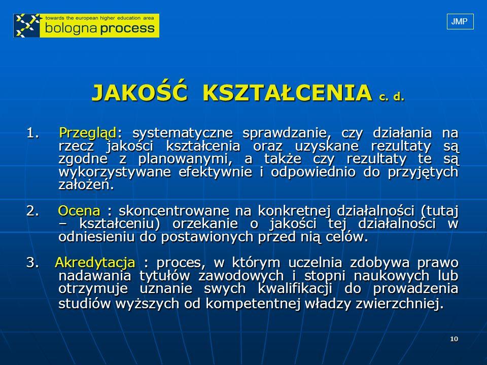 JMP JAKOŚĆ KSZTAŁCENIA c. d.
