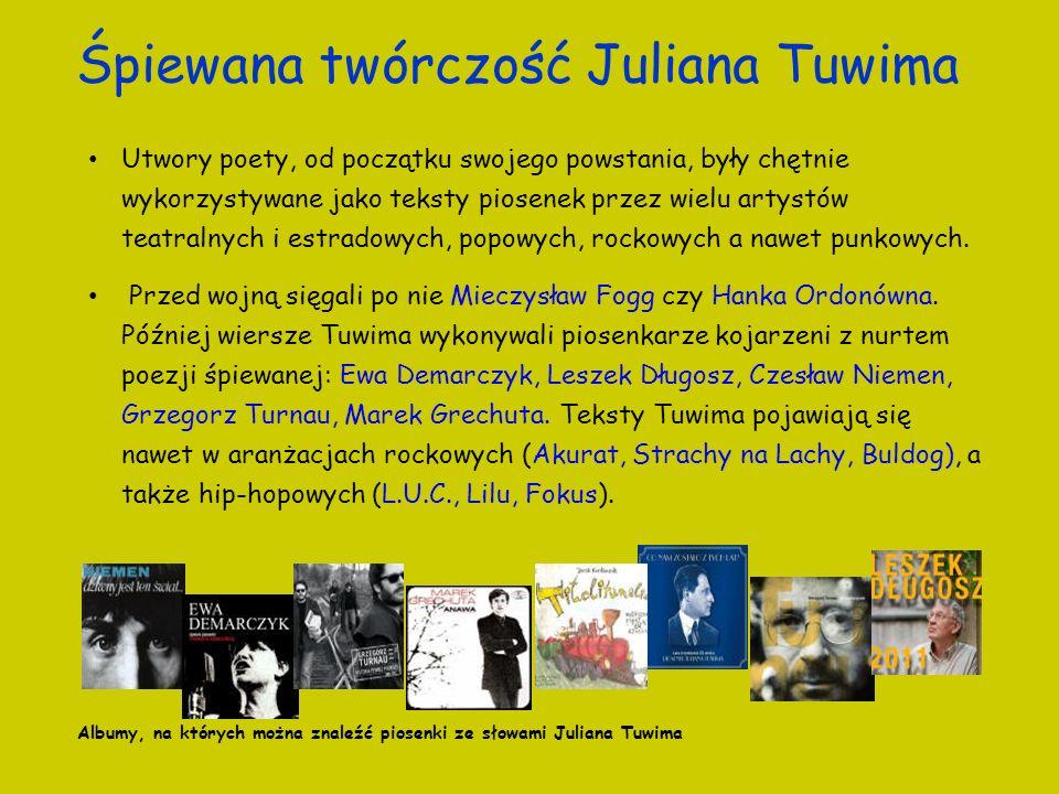 Śpiewana twórczość Juliana Tuwima