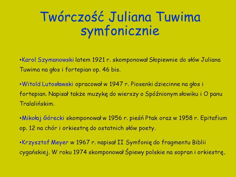 Twórczość Juliana Tuwima symfonicznie