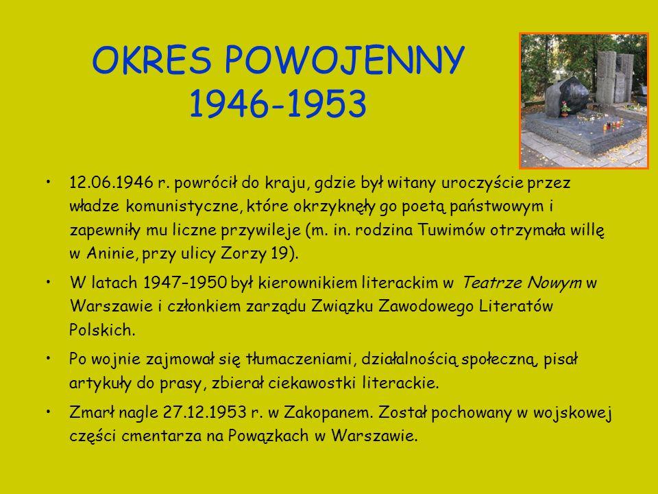 OKRES POWOJENNY 1946-1953