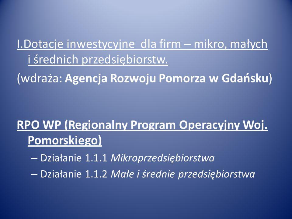 (wdraża: Agencja Rozwoju Pomorza w Gdańsku)