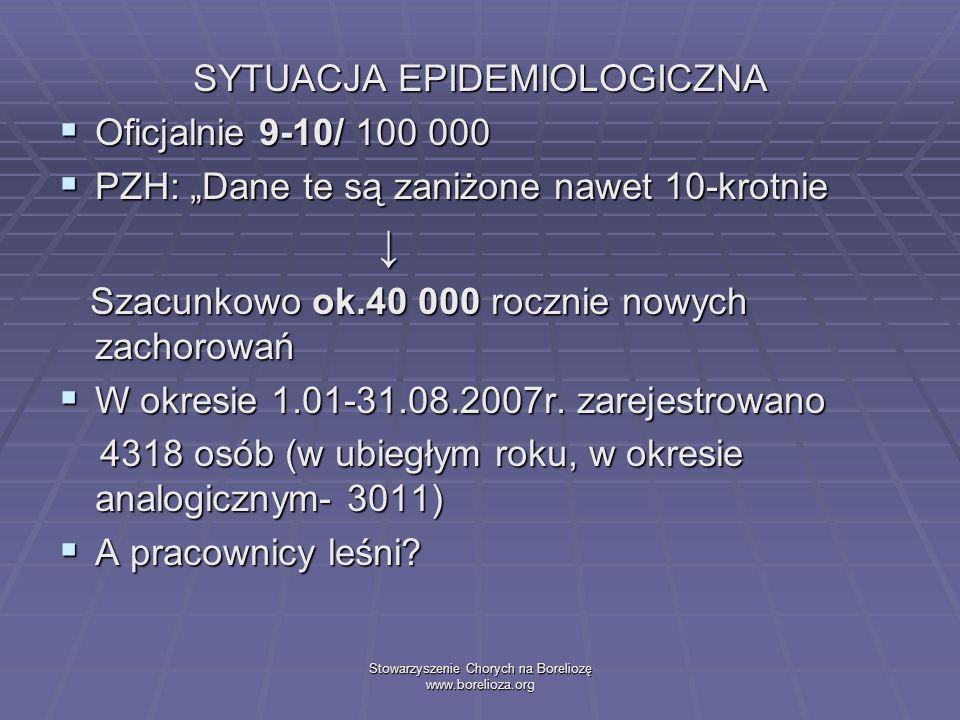 ↓ SYTUACJA EPIDEMIOLOGICZNA Oficjalnie 9-10/ 100 000