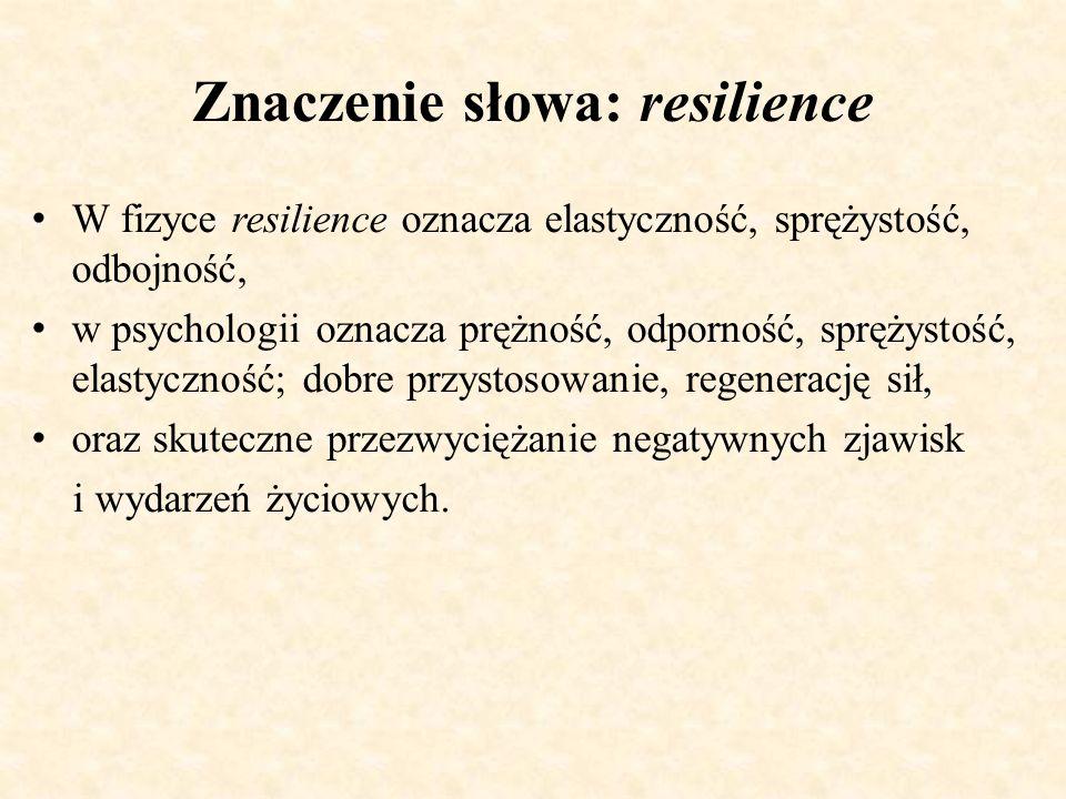 Znaczenie słowa: resilience