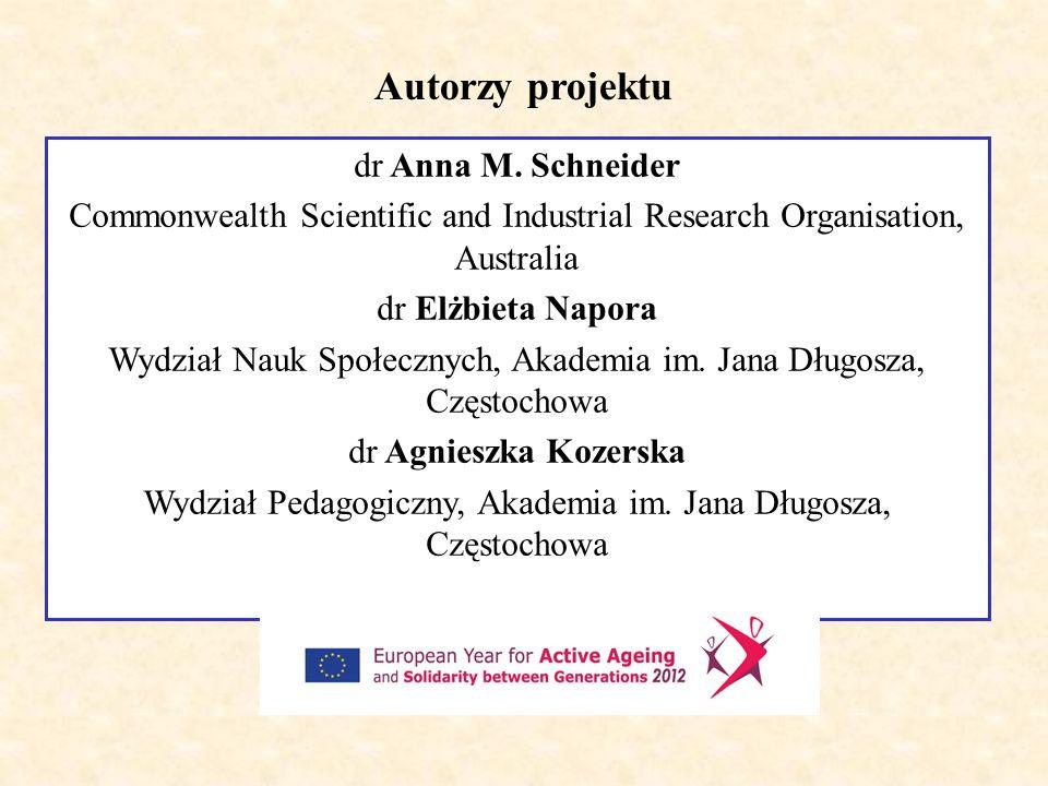 Autorzy projektu dr Anna M. Schneider