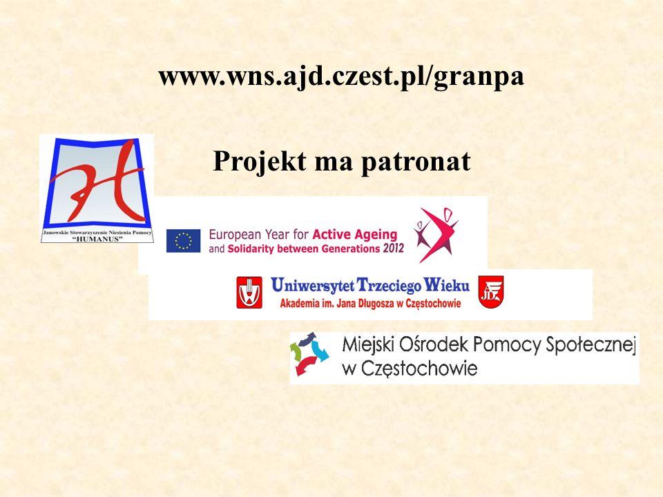 www.wns.ajd.czest.pl/granpa Projekt ma patronat
