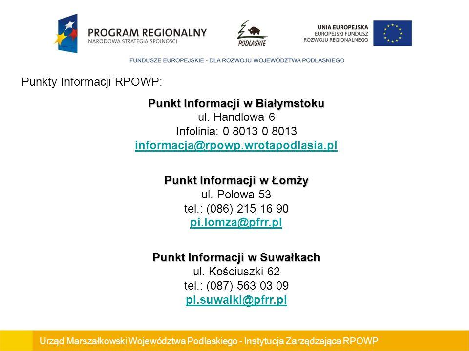 Punkty Informacji RPOWP: