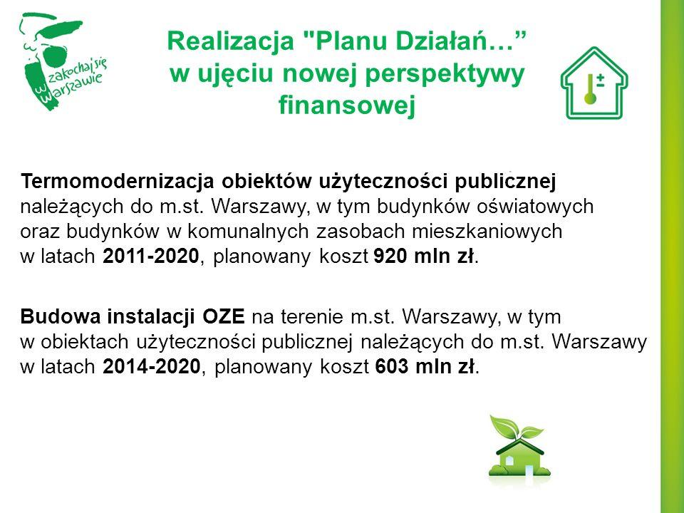 Realizacja Planu Działań… w ujęciu nowej perspektywy finansowej