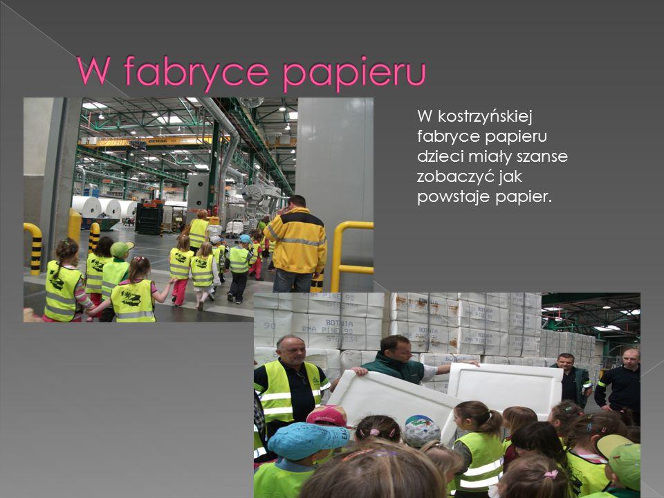 W fabryce papieru W kostrzyńskiej fabryce papieru dzieci miały szanse zobaczyć jak powstaje papier.