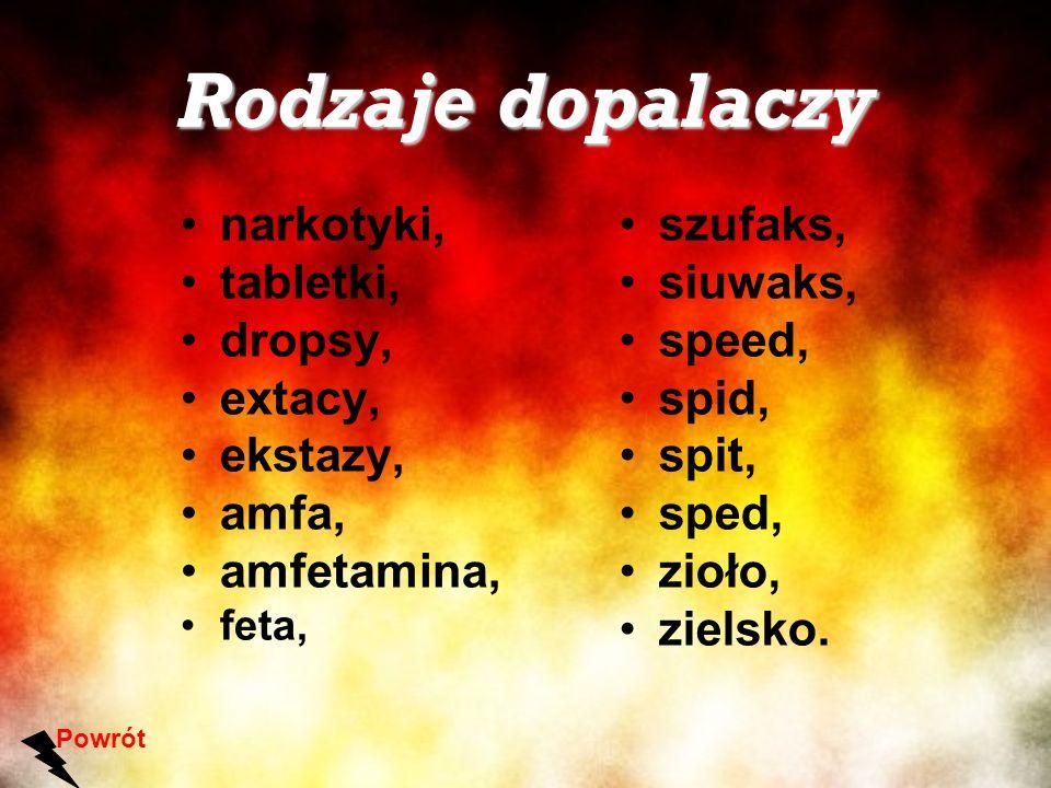 Rodzaje dopalaczy narkotyki, tabletki, dropsy, extacy, ekstazy, amfa,
