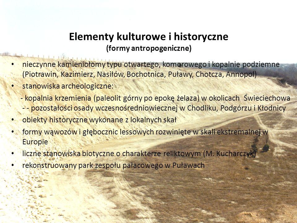 Elementy kulturowe i historyczne (formy antropogeniczne)